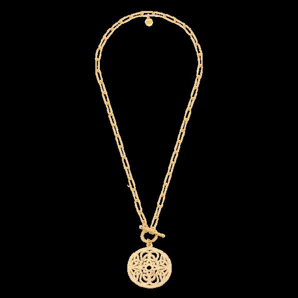 Naszyjnik łańcuch z rozetą Mokobelle