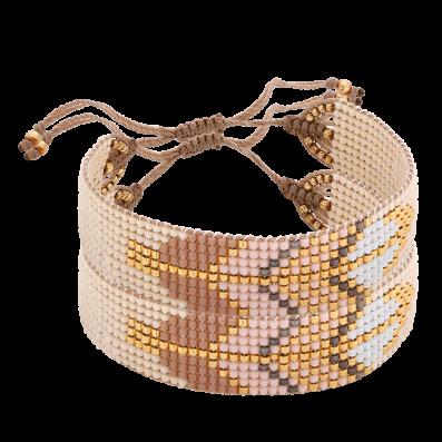 Powder-beige beaded bracelet