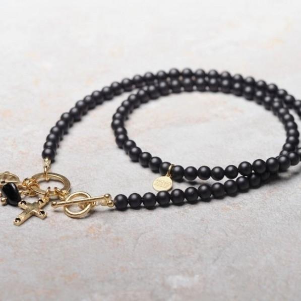 Black onyx necklace with pendants