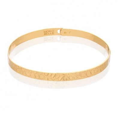 GOLD-PLATED BANGLE WITH SNAKE PATTERN
