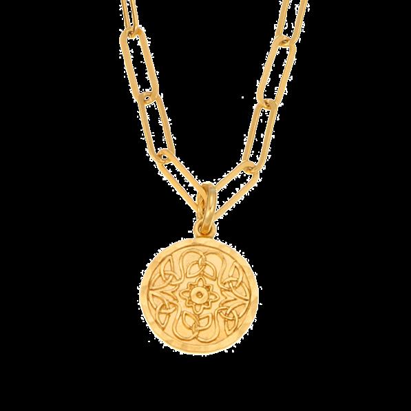 Chain necklace with Mokobelle medallion